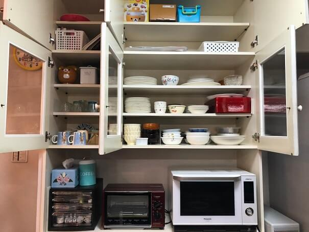 ビフォーアフター キッチン 食器棚 片付け後