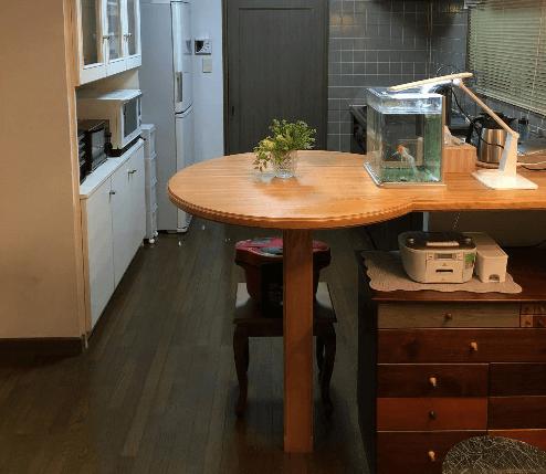 ビフォーアフター キッチン 片付け後 家具移動