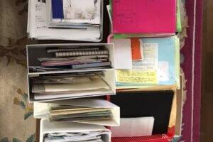 書類整理 分類中