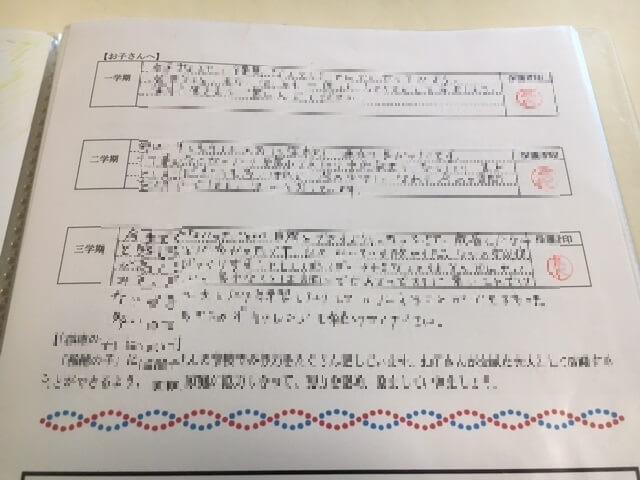 小学校 通知表 子供へのメッセージ 通信欄